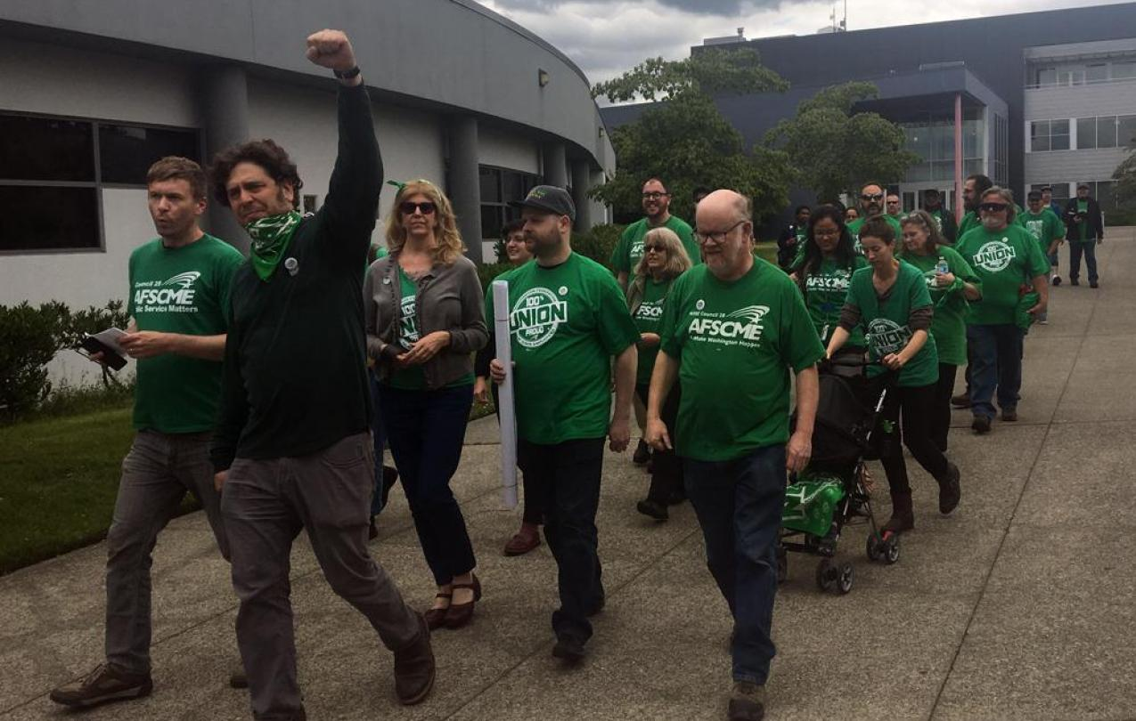WFSE at Seattle Colleges Petition Delivery