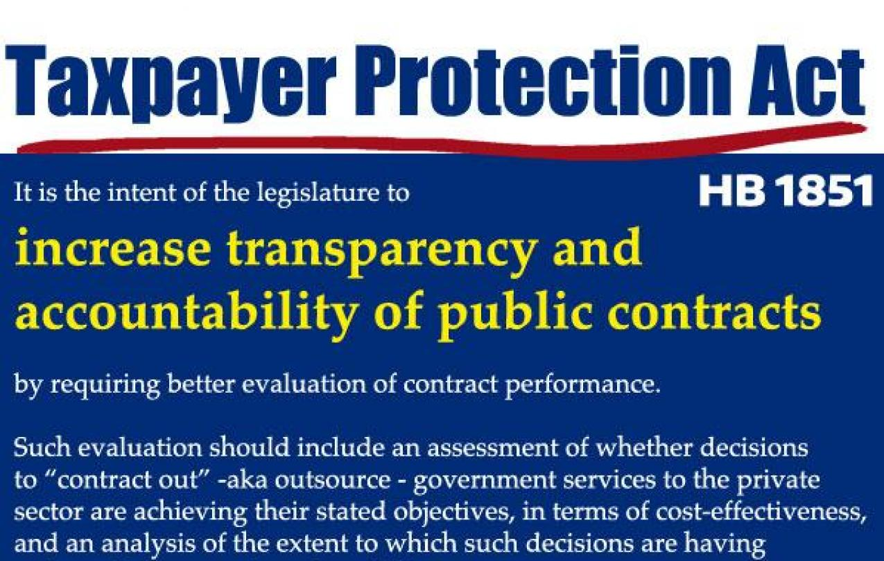 Taxpayer Protection Act HB 1851