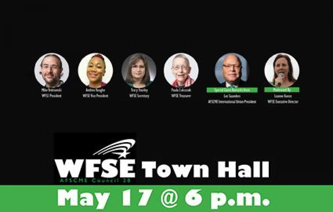 Graphic: WFSE E-Cmte AFSCME Pres. Lee Saunders