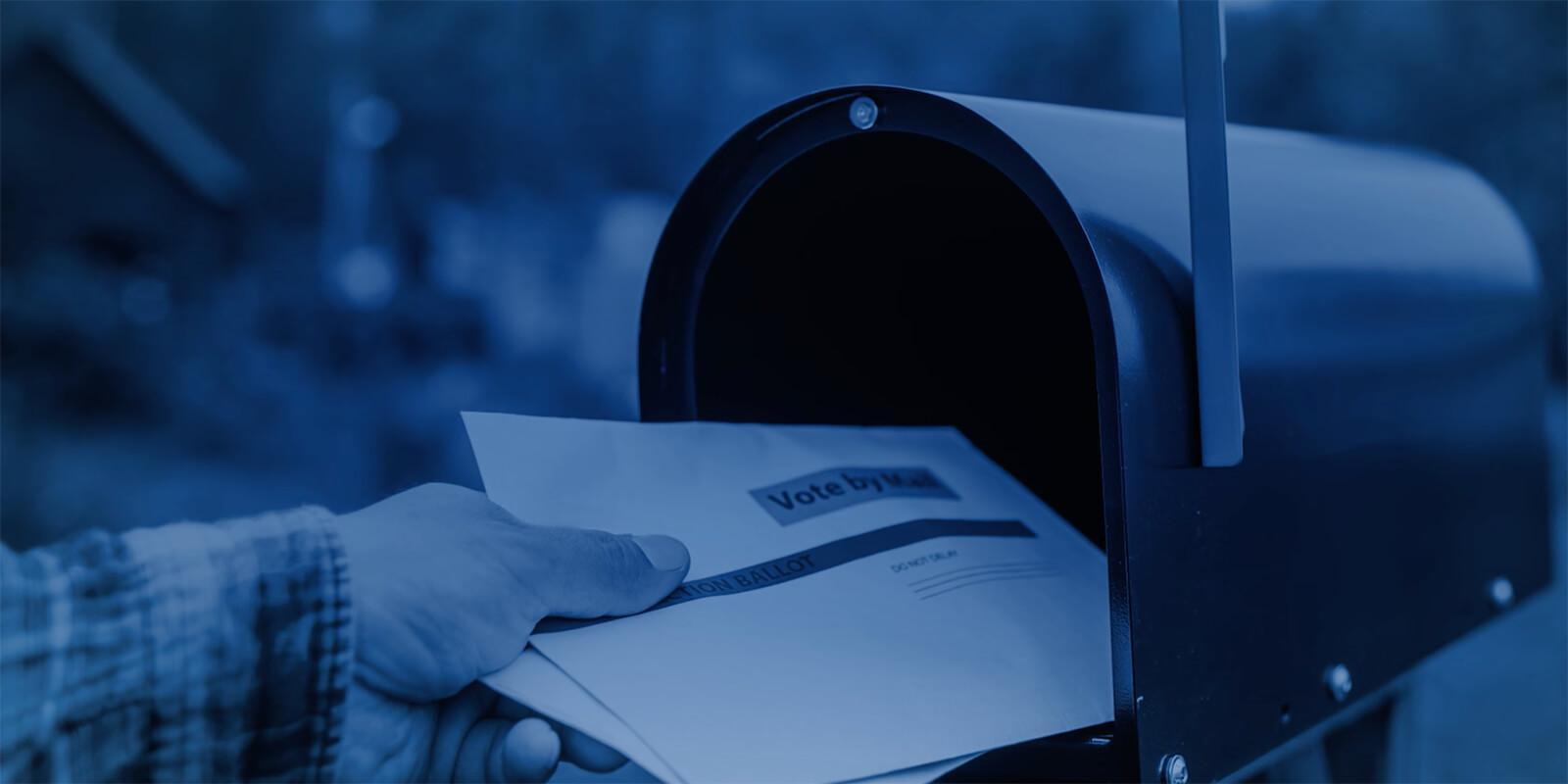 Voting Ballot in mailbox