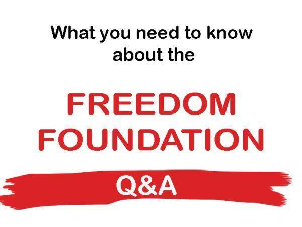Freedom Foundation Q-n-A