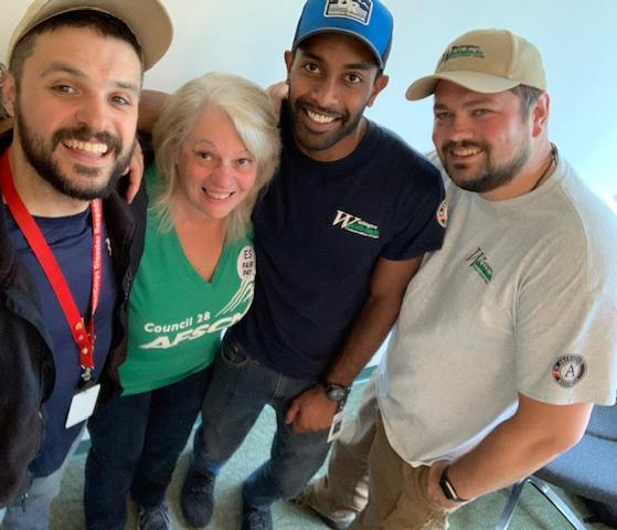 A group of Washington Conservation Corps supervisors pose with Pat Bailey, Ecology steward