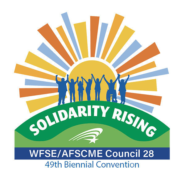 Convention logo: Rising sun with people together