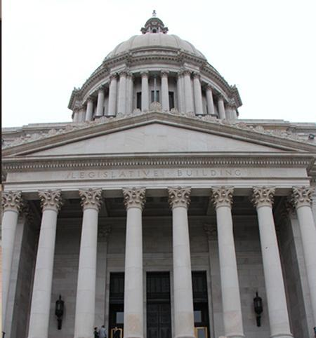 Picture of the state capitol building.