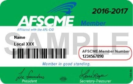 AFSCME Membership Card