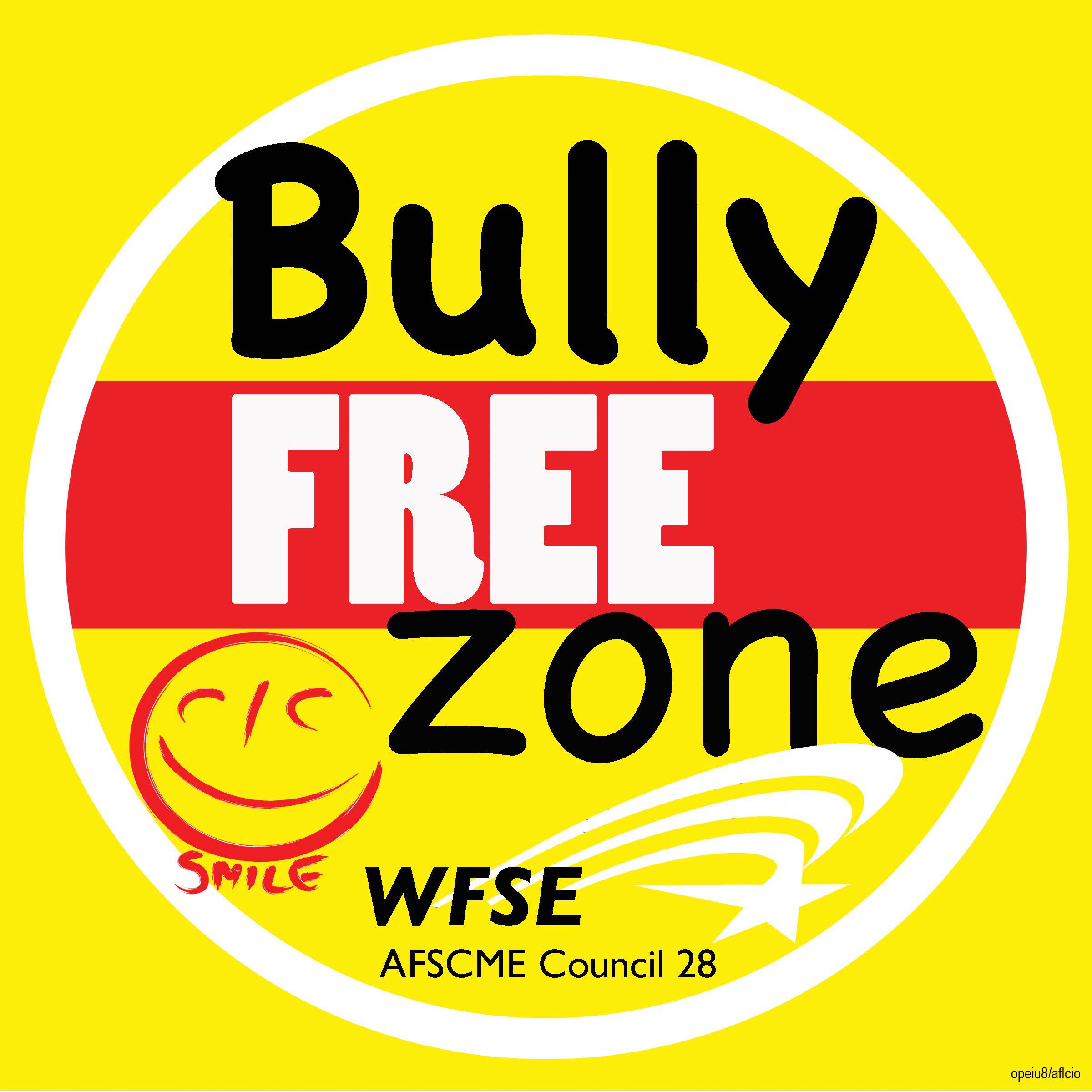 BullyFree Zone placard