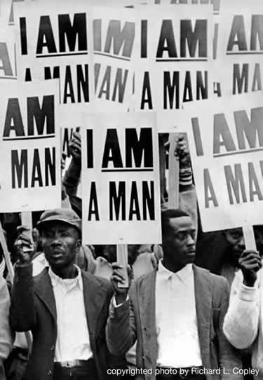 an analysis of the memphis sanitation workers strike of 1968 Sanitation workers in afscme local 1733 in memphis, tennessee led a strike in 1968 to gain union recognition the strike lasted for 65 days and garnered national attention as local 1733's campaign for labor rights became fused with the struggle for civil rights.