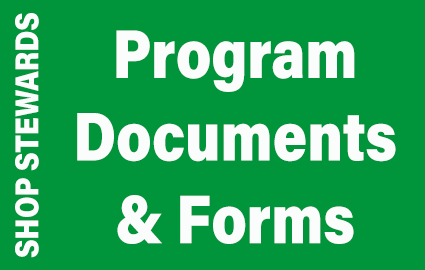 Shop Stewards Program Documents and Forms