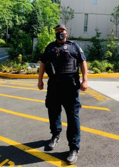 Aaron Rico, retired law enforcement and current Local 304 member and security guard at Shoreline Community College